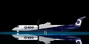 3d model bombardier dash 8