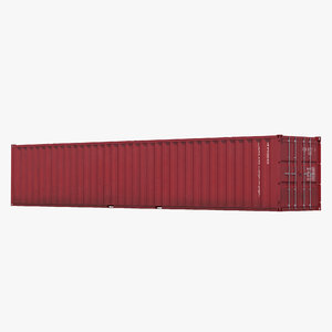 48 ft shipping iso container 3d c4d