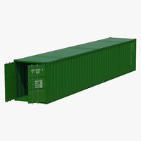 48 ft shipping iso container 3d 3ds