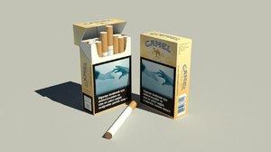 camel cigarettes 3d max