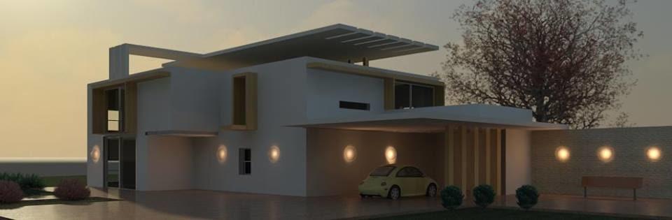3d exterior residential villa model