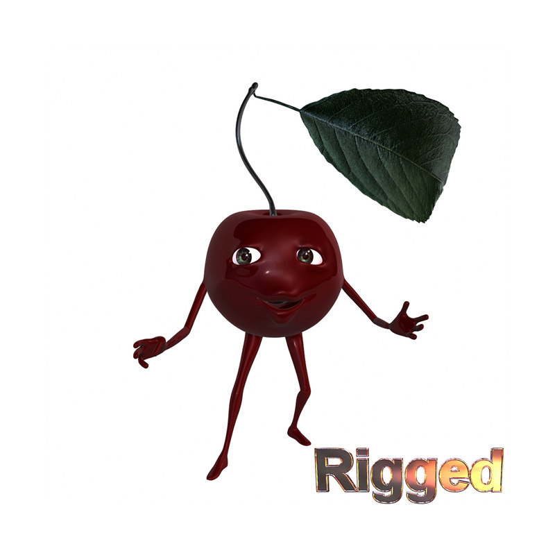 obj cartoon character cherry