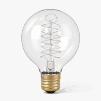 3ds max vintage spherical-shaped edison light bulb