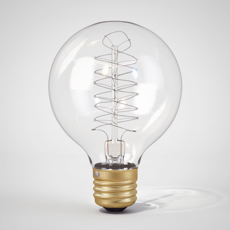 3ds max vintage spherical-shaped edison light bulb
