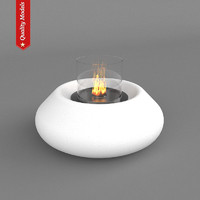 realistic fireplace heating 3d obj