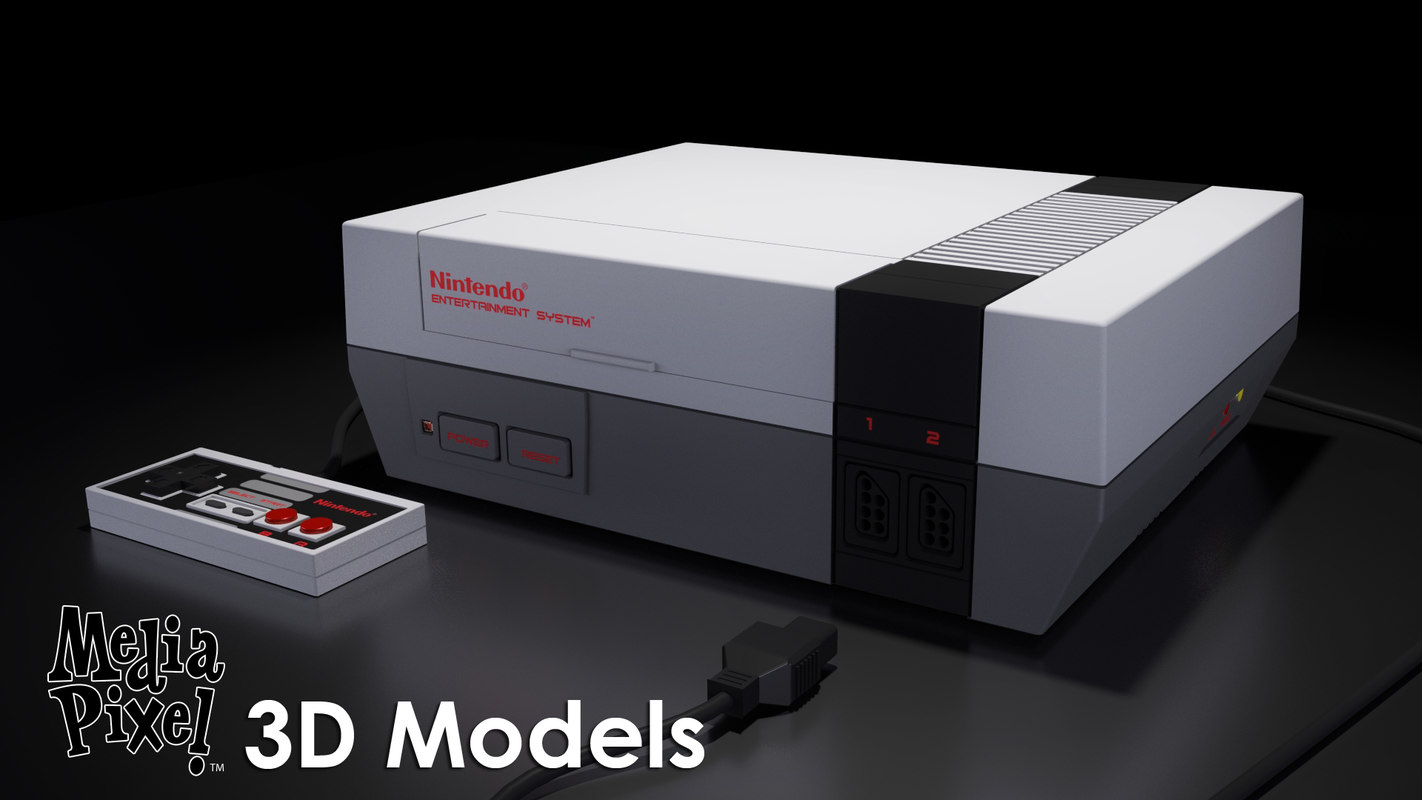 nintendo entertainment nes controller 3d model