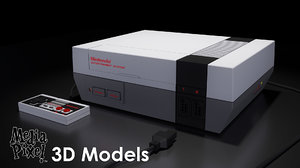 nintendo entertainment nes controller 3d model