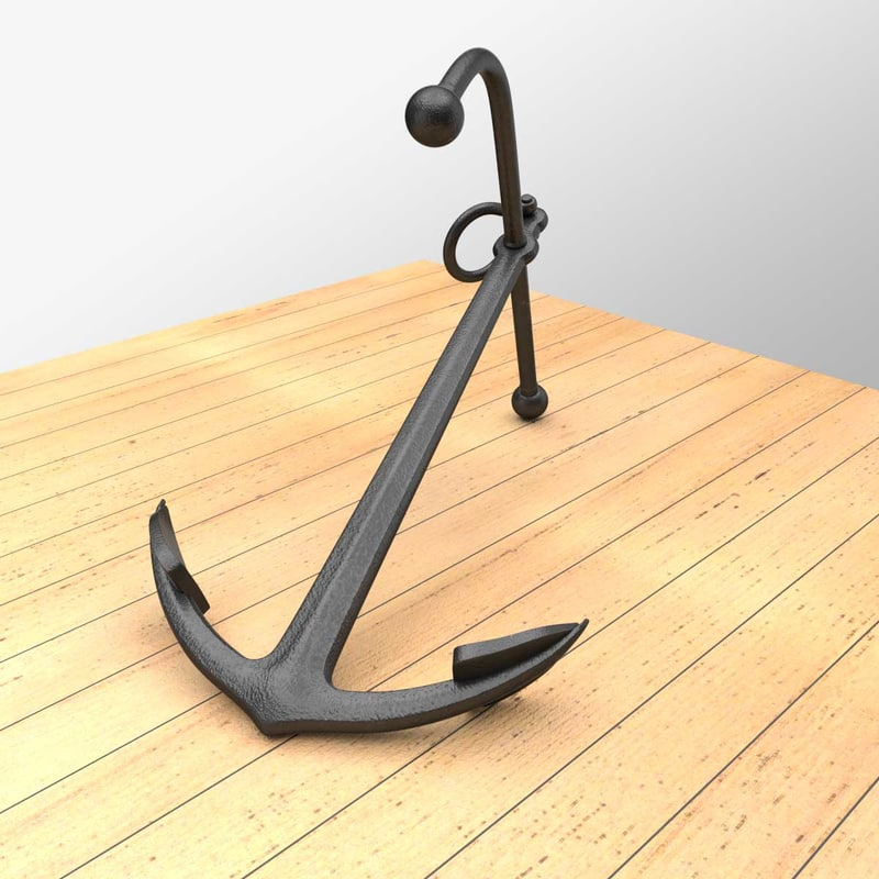 3d blend old anchor navy