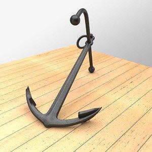 3d blend old anchor navy