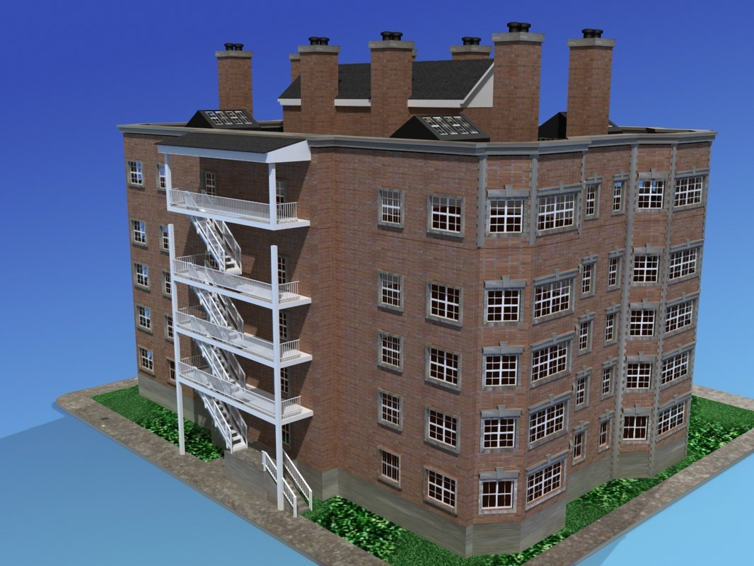 apartment building urban 3d max