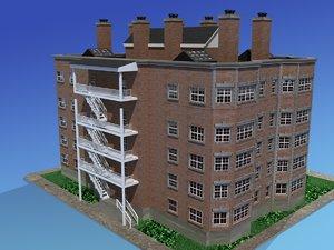 apartment building urban 3d max