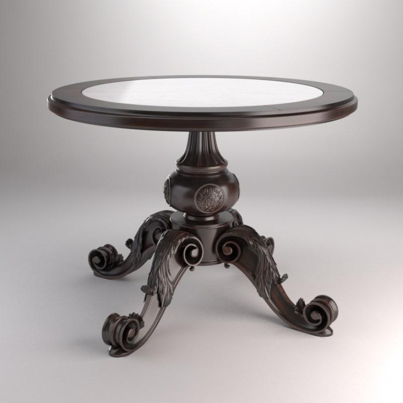 3d x decorative table