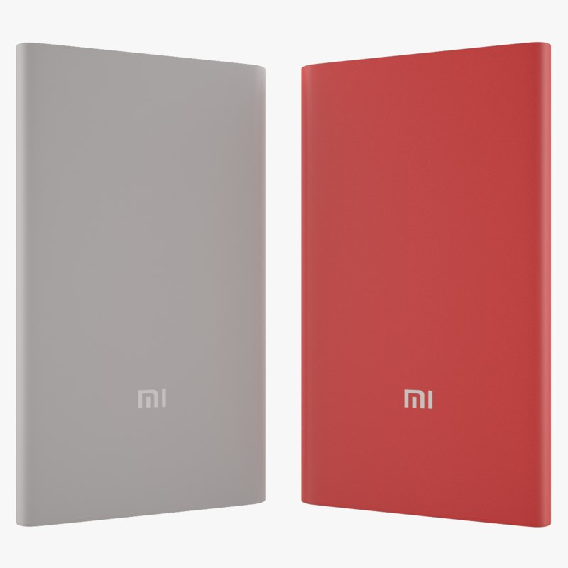 xiaomi power bank 5000 3d obj