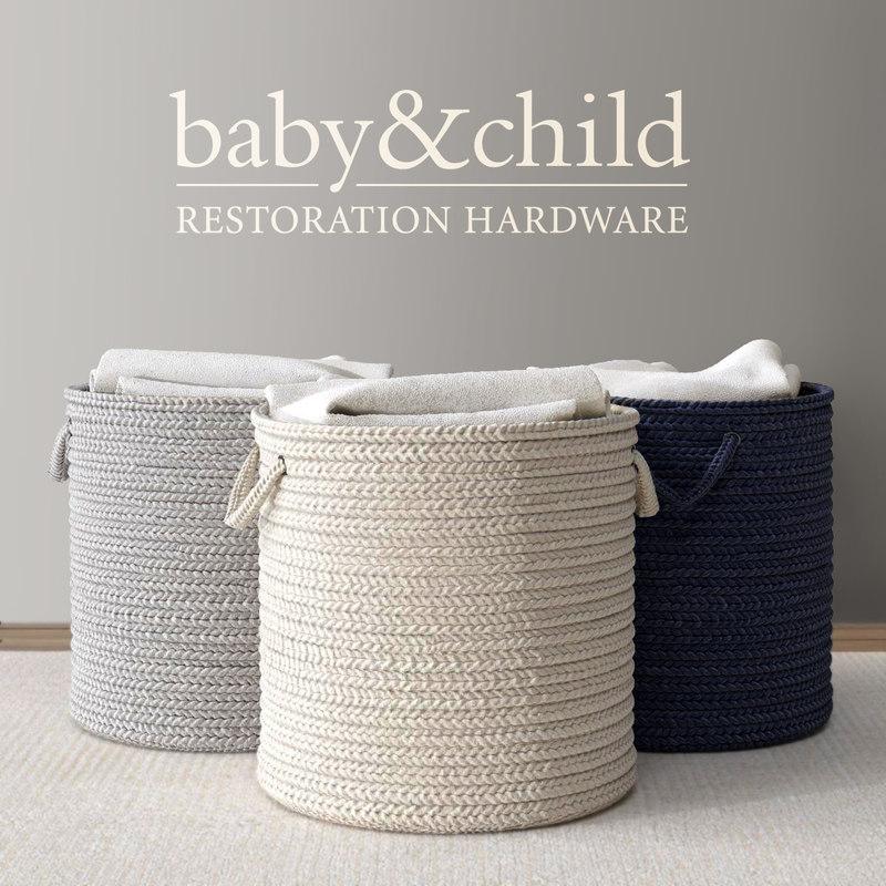 braided wool hamper 3d max