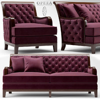 Sofa and chair Opera SEBASTIAN CLASSIC