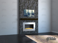 fireplace environment 3d max