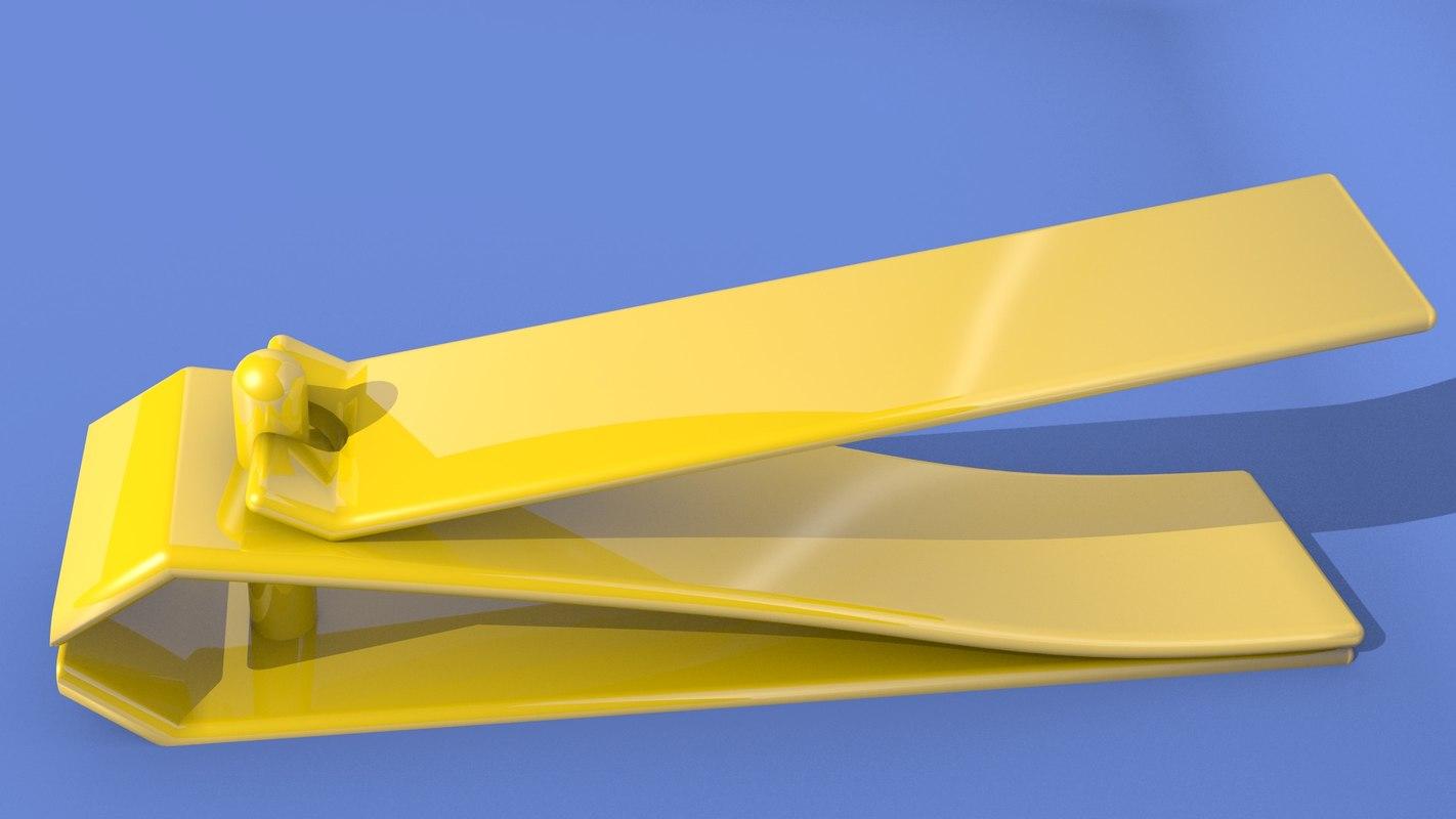 golden nail 3d model