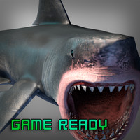 shark games 3d obj
