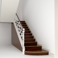 classic wooden stair 3d model