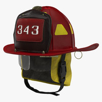 Fire Helmet 2 3D Model