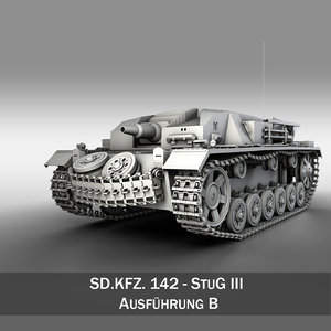 3d - iii stug panzer tank model