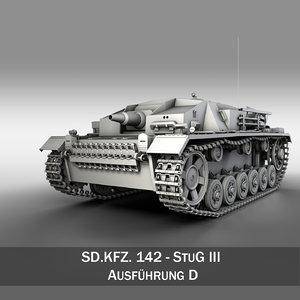 3d stug 3 d - model