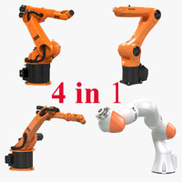 3d model kuka robots rigged 2