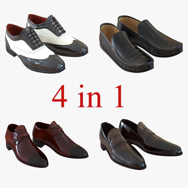 3d model man shoes 5