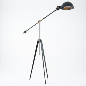 3d tripod lamp