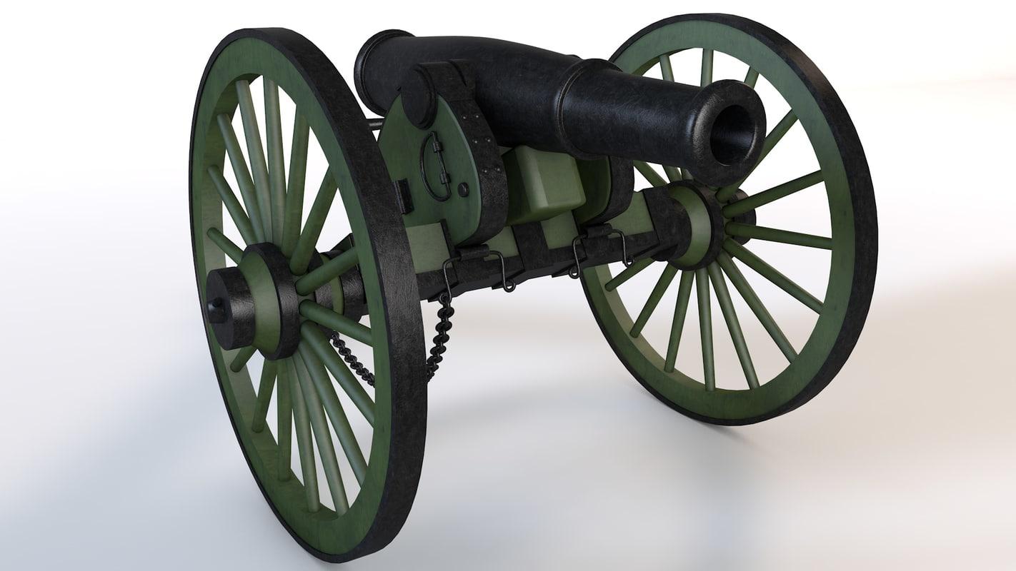 3d cannon napoleon model