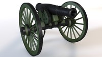 3d cannon napoleon model