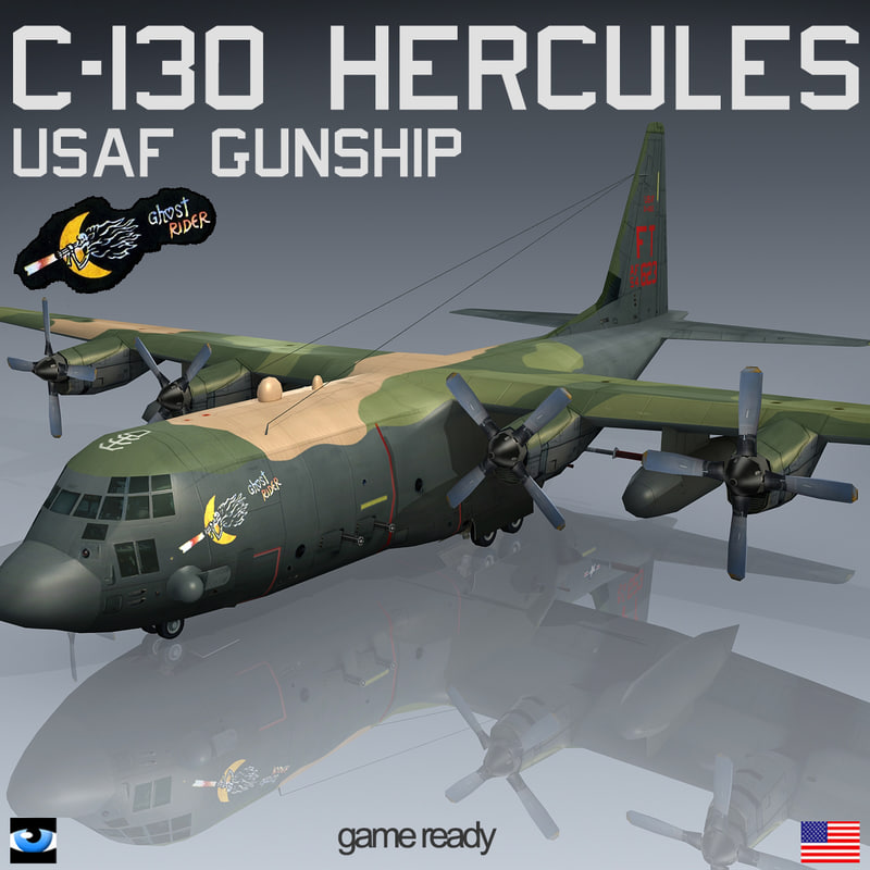 gunship ghost rider lockheed c-130 3d 3ds