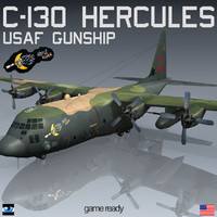 gunship ghost rider lockheed c-130 3d 3ds