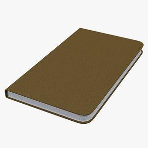 3d 3ds leather desk journal