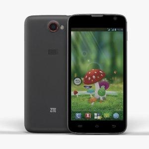 smartphone zte leo s1 3d model