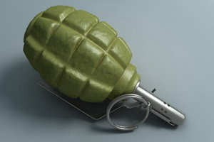 russian fragmentation grenade c4d