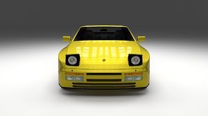 porsche 944 cabriolet interior obj