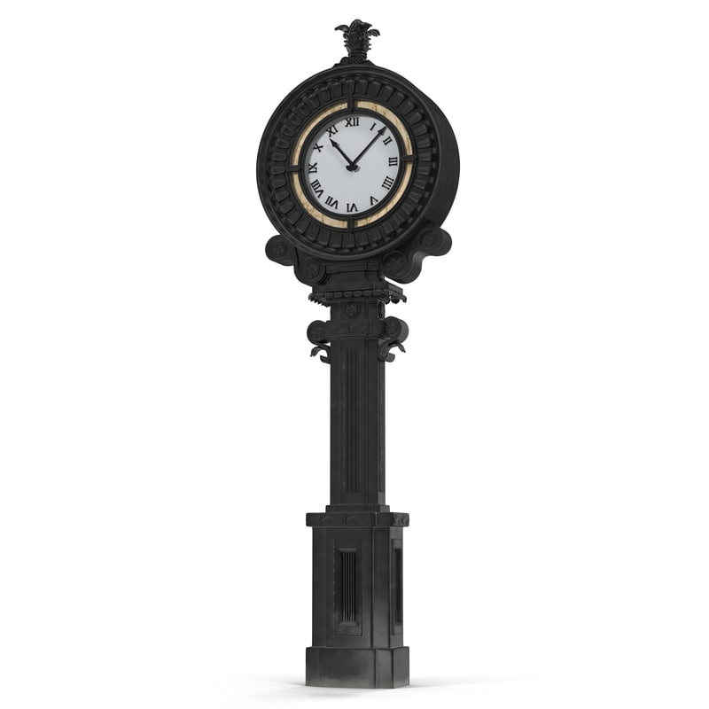 3d new york street clock model