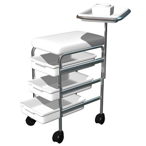 3d obj pedicure trolley chair