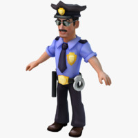cartoon policeman