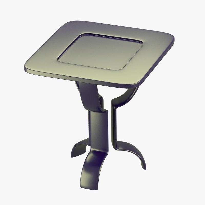 modern table metallic look 3d obj