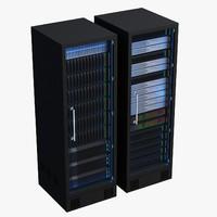 data server racks 3d model