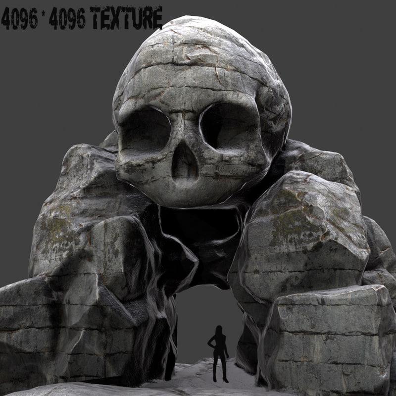 skull cave obj