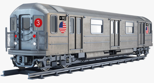 new york r62 subway train 3d model