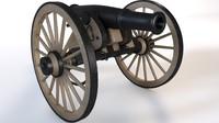 3d model cannon field