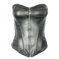 3d model black leather corset