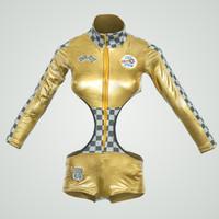 gold racing 3d model