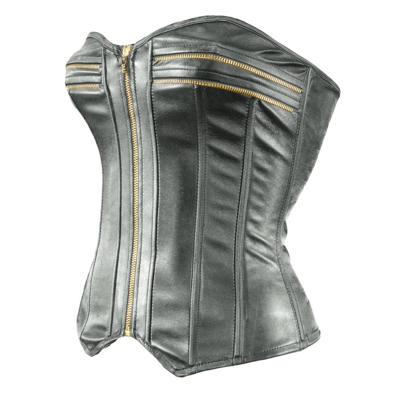 3d model zipper corset