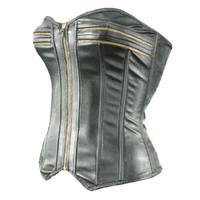zipper corset 3d obj