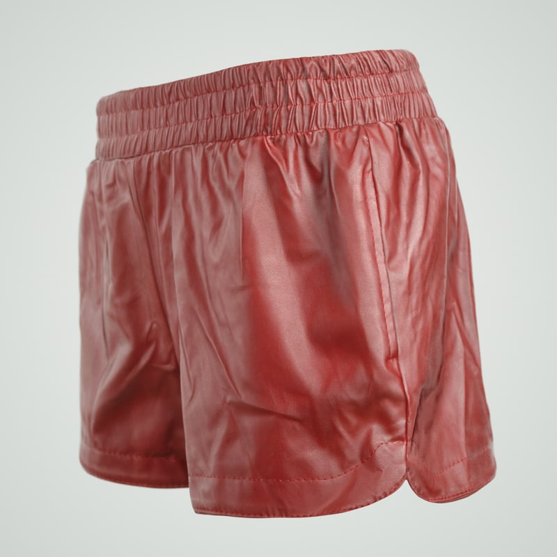 red leather shiny shorts 3d obj